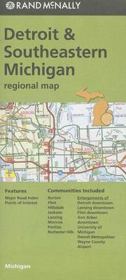 Rand McNally Detroit & Southeastern Michigan Regional Map (BOK)