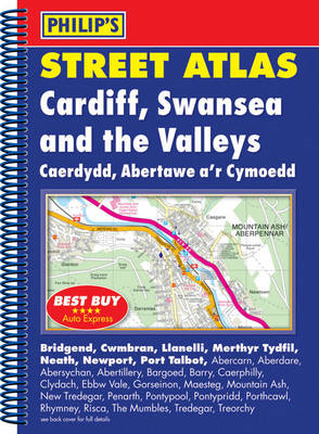 Philip's Street Atlas Cardiff, Swansea and the Valleys (BOK)