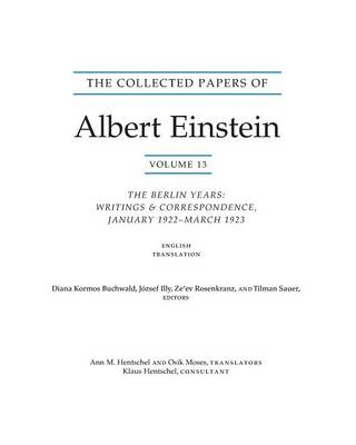 Collected Papers of Albert Einstein, Volume 13 (BOK)