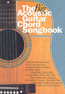 The Big Acoustic Guitar Chord Songbook (Platinum Edition): Platinum Edition (BOK)