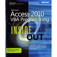 Microsoft Access 2010: VBA Programming Inside out (BOK)