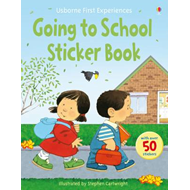 Produktbilde for Usborne First Experiences Going to School Sticker Book (BOK)