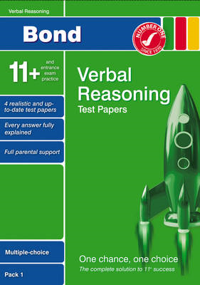 Bond 11+ Test Papers Verbal Reasoning Multiple Choice Pack 1 (BOK)