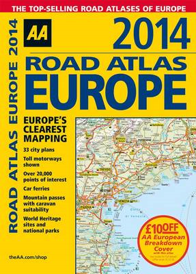 AA Road Atlas Europe: 2014 (BOK)