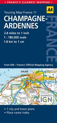 11. Champagne-Ardennes: AA Road Map France (BOK)