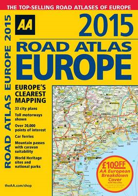 AA Road Atlas Europe 2015 (BOK)