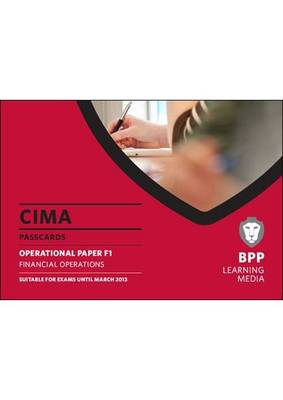 CIMA - Financial Operations: Passcards: Operational paper F1 (BOK)