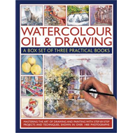 Watercolour, Oil & Drawing: A Box Set of Three Practical Books (BOK)