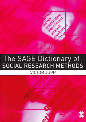 SAGE Dictionary of Social Research Methods (BOK)