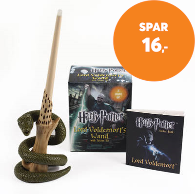 Harry Potter Voldemort's Wand with Sticker Kit - Lights Up! (BOK)