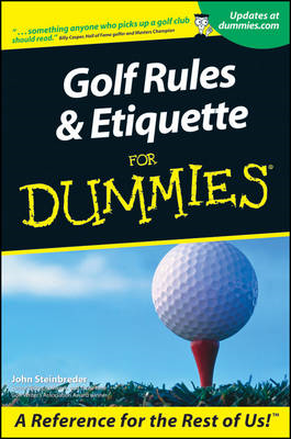 Golf Rules and Etiquette For Dummies (BOK)