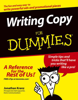 Writing Copy For Dummies (BOK)