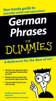 German Phrases For Dummies (BOK)