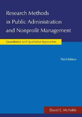 Research Methods in Public Administration and Nonprofit Management (BOK)