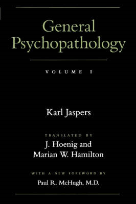 General Psychopathology: v. 1 (BOK)
