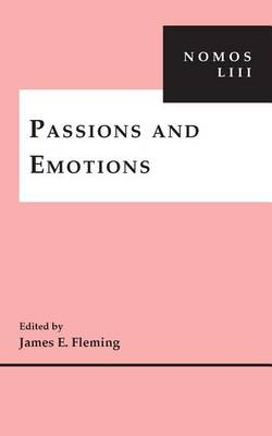 Passions and Emotions (BOK)