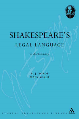 Shakespeare's Legal Language (BOK)
