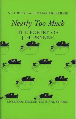 Nearly Too Much: Poetry of J.H. Prynne (BOK)