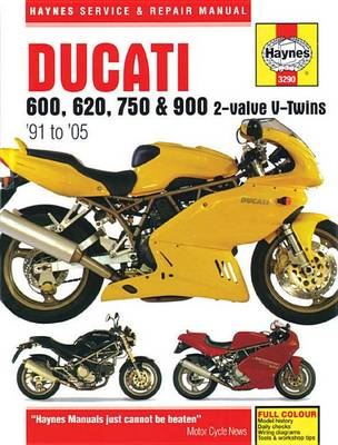 Ducati 600, 750 & 900 2-Valve V-Twin Service and Repair Manu (BOK)