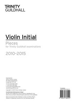 Violin Exam Pieces Initial 2010-2015 (part Only) (BOK)
