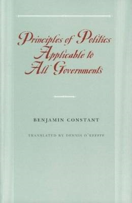 Principles of Politics Applicable to All Governments (BOK)