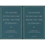 History of English Law Before the Time of Edward I (BOK)
