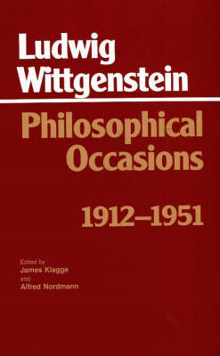 Philosophical Occasions: 1912-1951 (BOK)