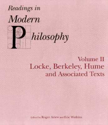 Readings In Modern Philosophy, Volume 2 (BOK)