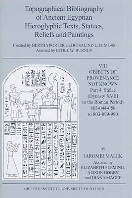 Topographical Bibliography of Ancient Egyptian Hieroglyphic Texts, Statues, Reliefs and Paintings: V (BOK)