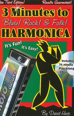 3 Minutes to Blues! Rock! and Folk! Harmonica (BOK)