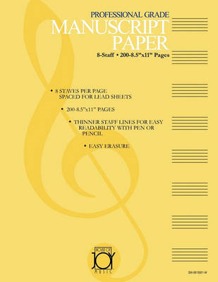 House of Joy Music Deluxe Professional 8-Staff Manuscript Paper (BOK)