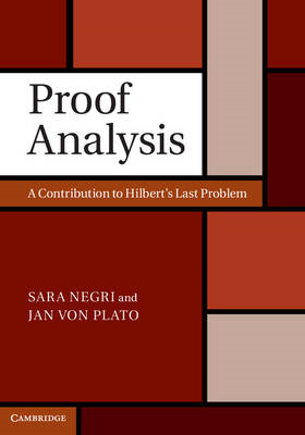 Proof Analysis: A Contribution to Hilbert's Last Problem (BOK)