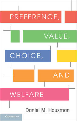 Preference, Value, Choice, and Welfare (BOK)