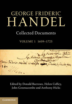 George Frideric Handel: Volume 1, 1609-1725 (BOK)