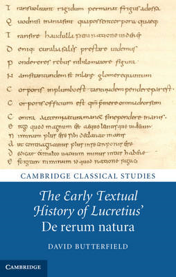 Early Textual History of Lucretius' De rerum natura (BOK)