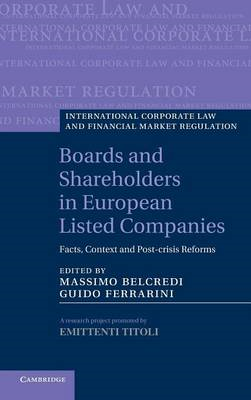 Boards and Shareholders in European Listed Companies (BOK)