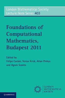 Foundations of Computational Mathematics, Budapest 2011 (BOK)