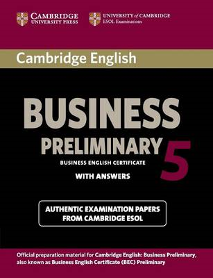Cambridge English Business 5 Preliminary Student's Book with (BOK)