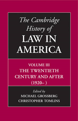 Cambridge History of Law in America (BOK)
