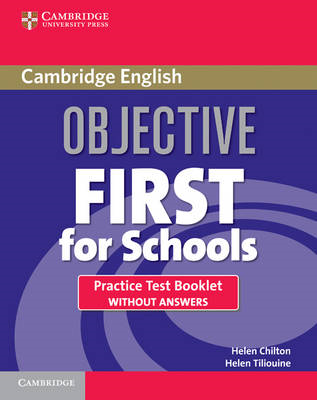 Objective First For Schools Practice Test Booklet without Answers (BOK)