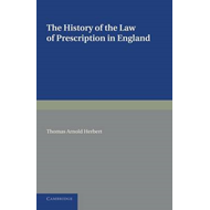 History of the Law of Prescription in England (BOK)