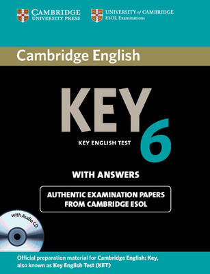 Cambridge English Key 6 Self-study Pack (student's Book with Answers and Audio CD) (BOK)