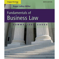 Advantage Book Fundamentals of Business Law - Summarized Cases (BOK)