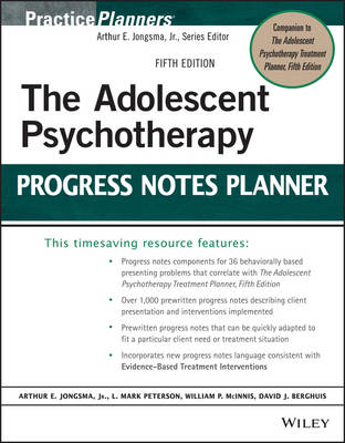 Adolescent Psychotherapy Progress Notes Planner (BOK)