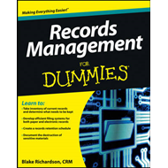 Records Management For Dummies (BOK)