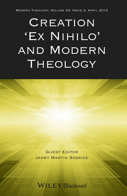 Creation 'Ex Nihilo' and Modern Theology (BOK)
