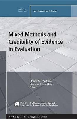 Mixed Methods and Credibility of Evidence in Evaluation (BOK)