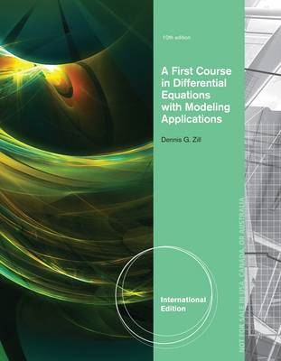 A First Course in Differential Equations with Modeling Applications (BOK)