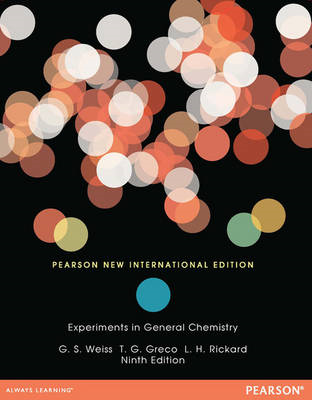 Experiments in General Chemistry (BOK)