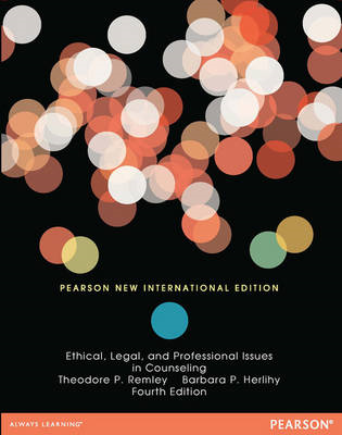 Ethical, Legal, and Professional Issues in Counseling: Pears (BOK)
